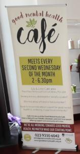 Banner with info re cafe events