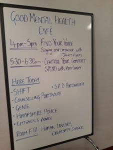 Timetable for activities of the day